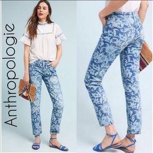 NWT ANTHROPOLOGIE Mid Rise Slim Boyfriend Jeans